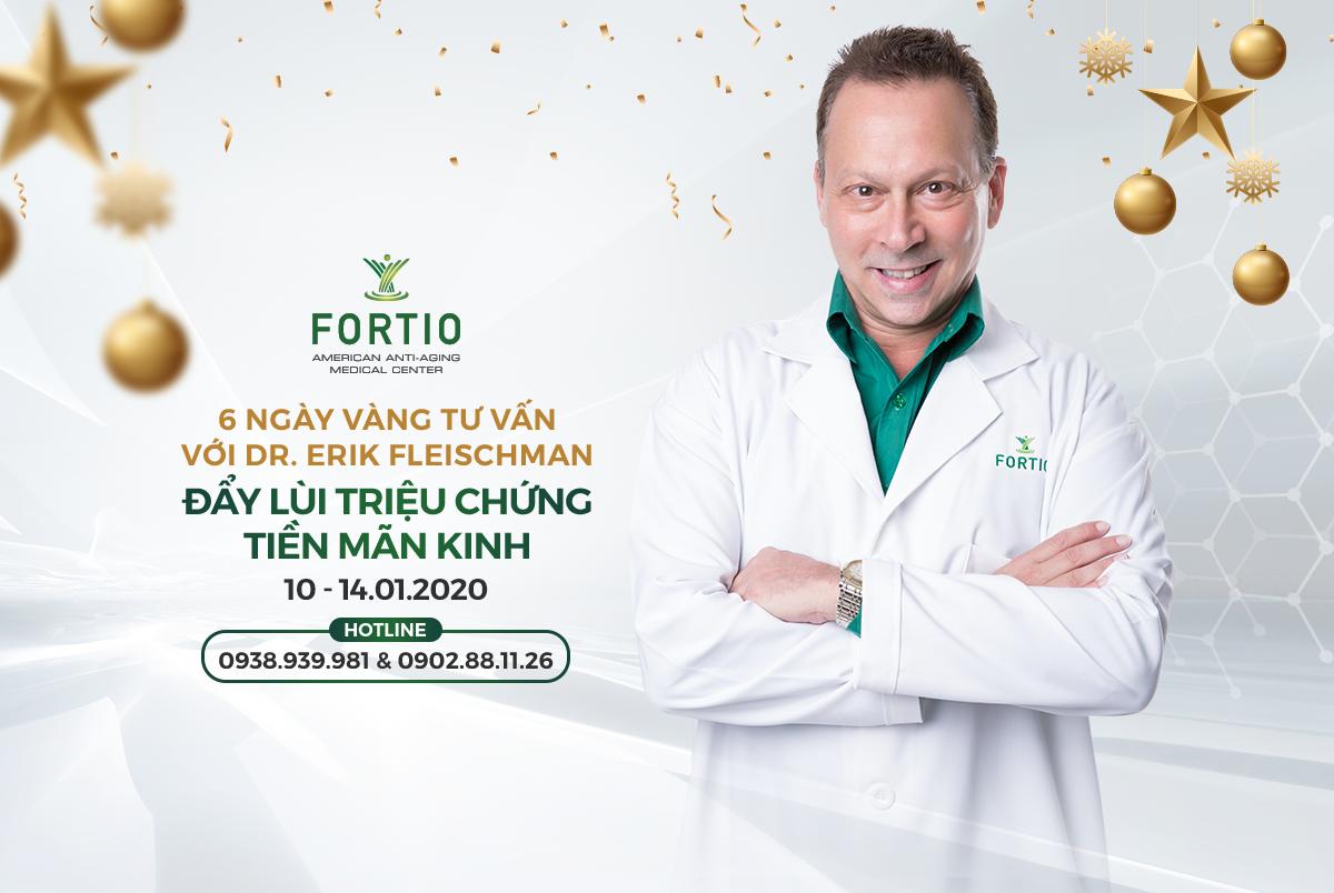 5 NGÀY VÀNG TƯ VẤN TIỀN MÃN KINH CÙNG DR. ERIK FLEISCHMAN